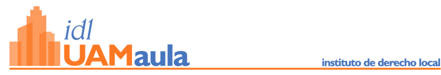 Aula Virtual - Instituto de Derecho Local UAM